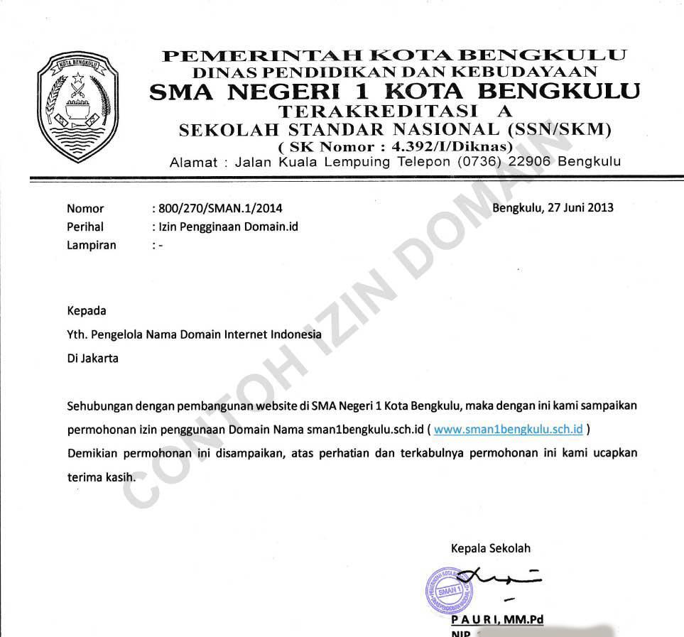 Dokumen Persyaratan Domain Indonesia Bantuan Divisi Data Litbang